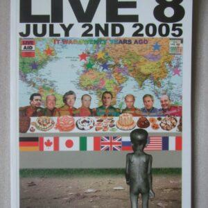 LIVE AID LIVE 8 Concert Programme Hyde Park London July 2nd 2005