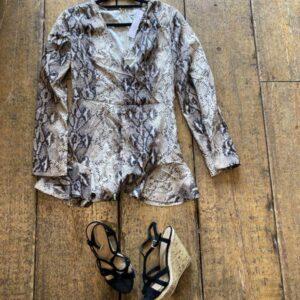 Dani Dywer Snake Print Dress